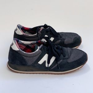 New Balance Navy/Plaid Sneakers